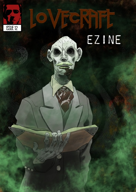 Lovecraft eZine issue 12 cover - illustration by Stjepan Lukac