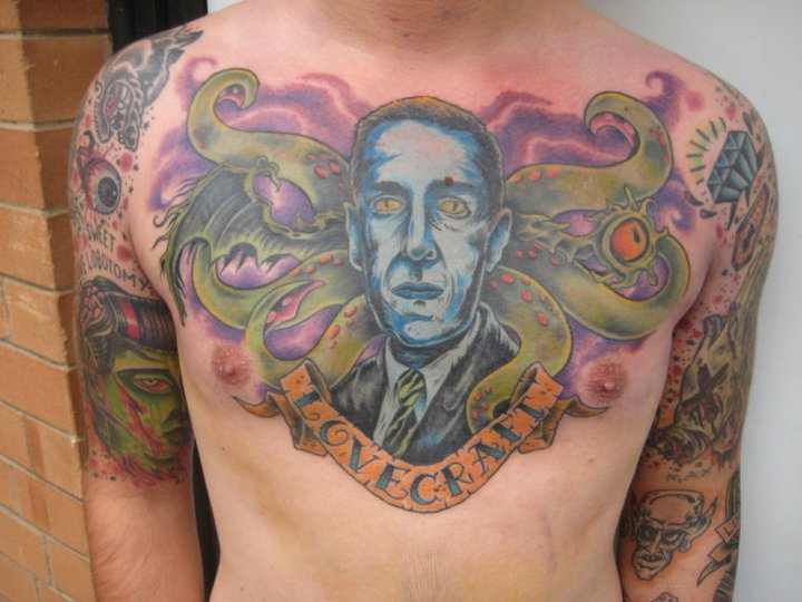 A VERY cool Lovecraft tattoo | Lovecraft eZine