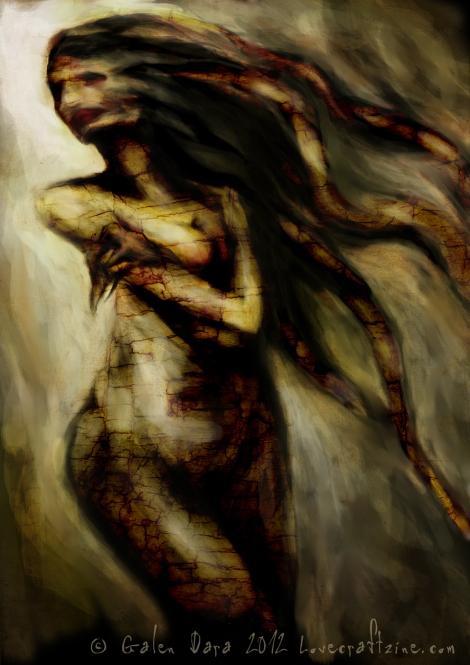 Lovecraft eZine issue 14 cover art, by Galen Dara