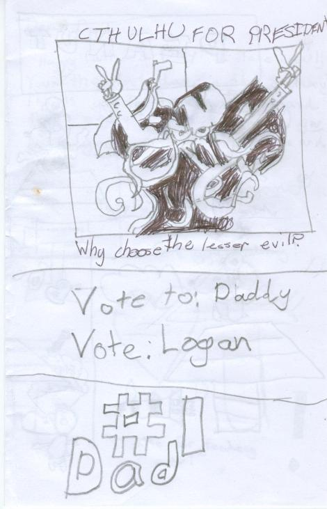 my father's day card from Logan