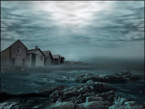 An illustration of Innsmouth that's been on the web for a while...