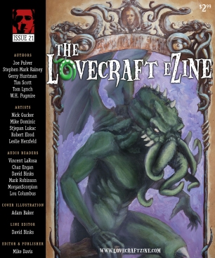 Issue #21 cover by Adam Baker – click to enlarge – http://www.facebook.com/thinkbaker