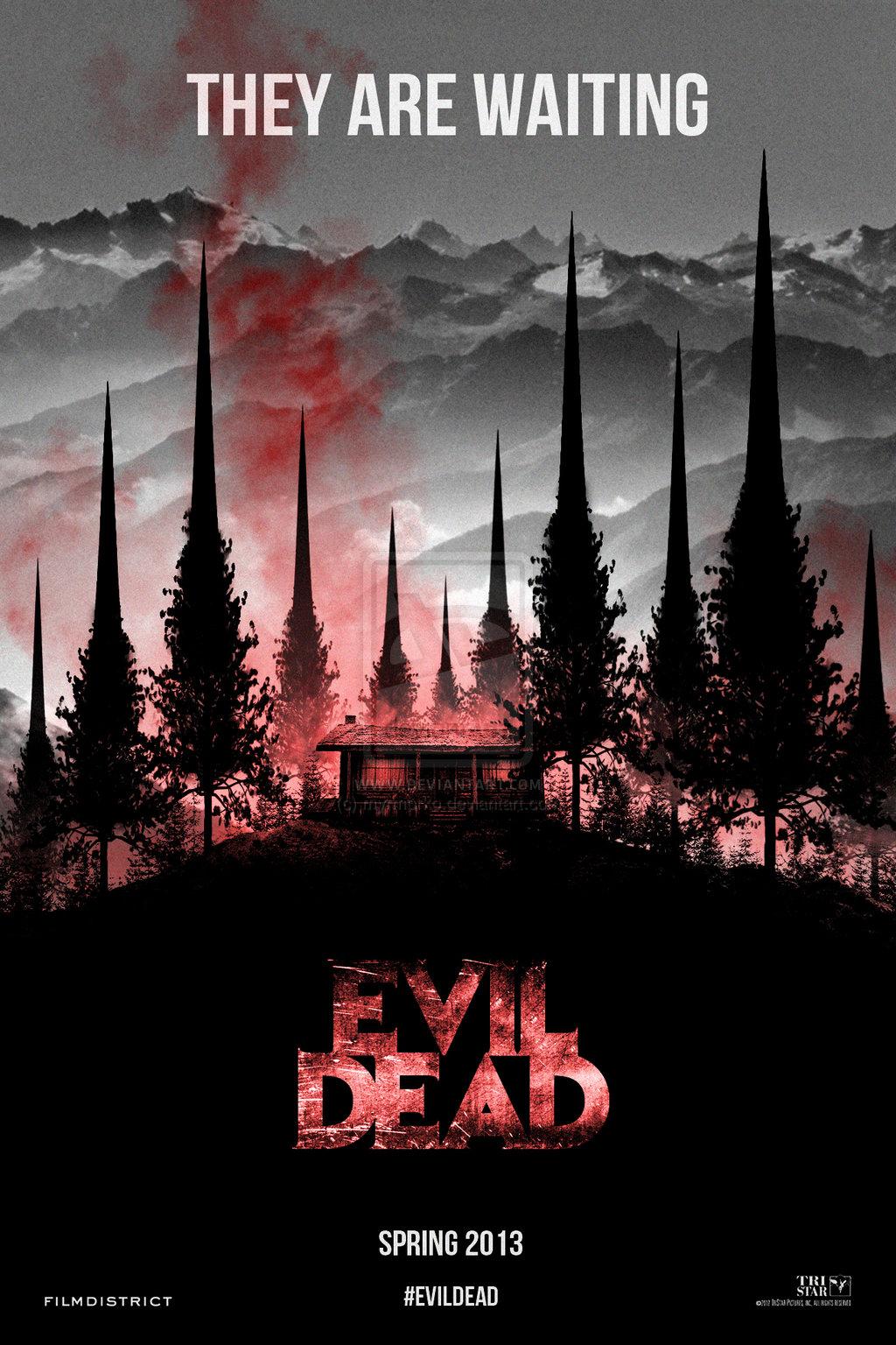 Risultati immagini per evil dead movie poster 2013