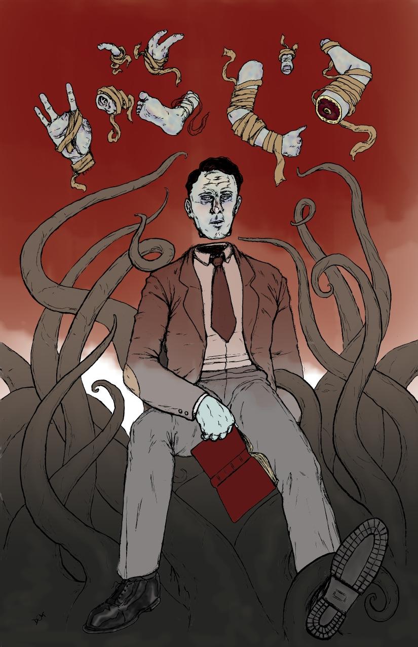 The Horror Under the City  by Kevin Crisp   Lovecraft eZine Art by Dominic Black  http   webtentacle blogspot com