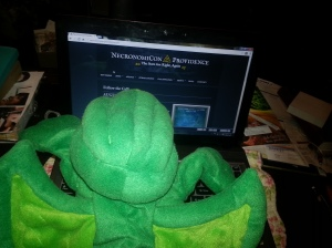 Cthulhu visits the NecronomiCon website (click to enlarge)