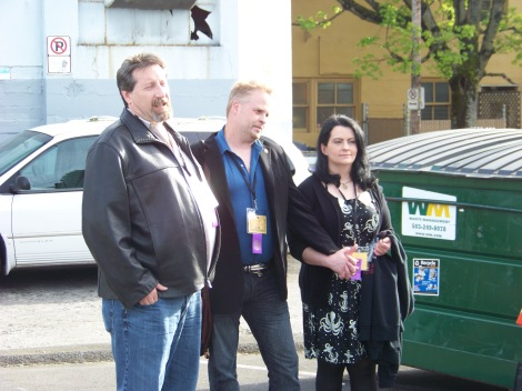 From left to right: Pete Rawlik, Kelly Young, Brandi Jording
