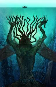 """Art by Steve Santiago – http://www.illustrator-steve.com/ – for the story """"Leviathan's Wake"""""""