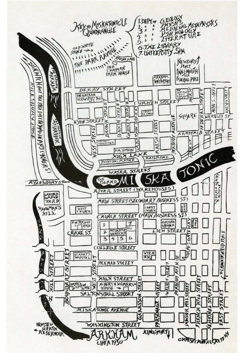 The French Leach Of Arkham And A Map Of Arkham By