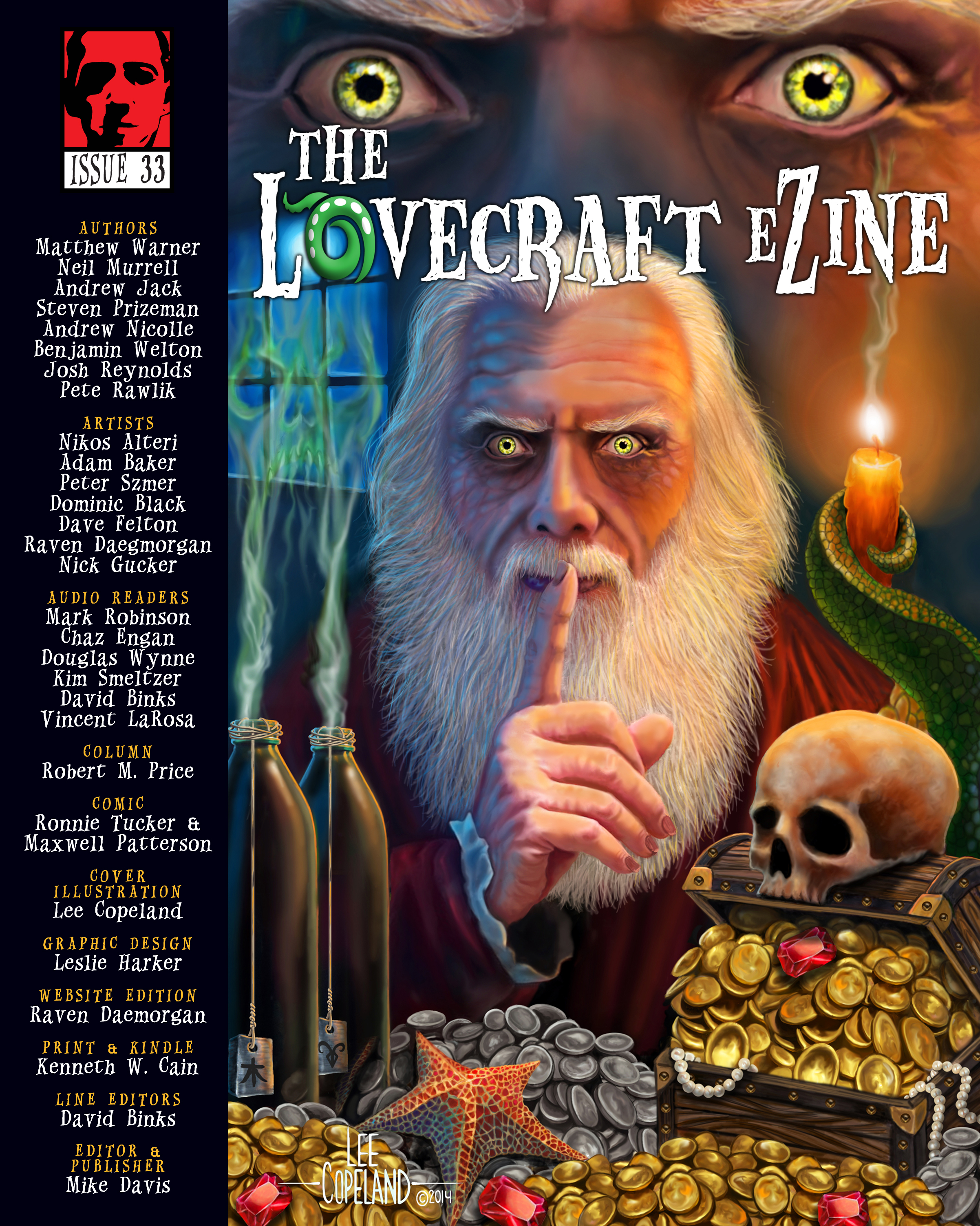 "Read free: Issue 33 of ""The Lovecraft eZine"" is online"