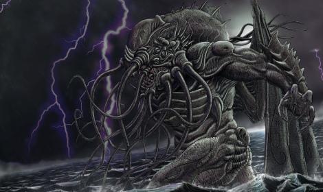 'Cthulhu Wakes' by methusuelah3000: http://methuselah3000.deviantart.com/gallery/