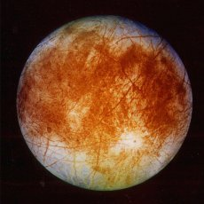 An image of Europa released by the Jet Propulsion Laboratory in Pasadena, Calif., in 1996 by the Galileo spacecraft (www.nasa.gov).