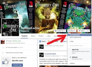 Get notified about new FB posts. Click to enlarge.