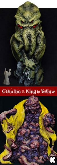 (click the image) Cthulhu & King in Yellow premium statuettes! New collection of Cthulhu Mythos statuettes, limited edition. Hand-painted and ready for exhibition.