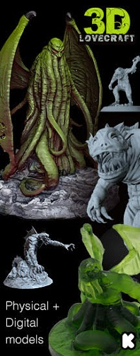 (click image for details) After a few years offering our Cthulhu sculptures, we are starting this new collection of miniatures designed both for 3D printing (STL) and for collectors (physical product)!